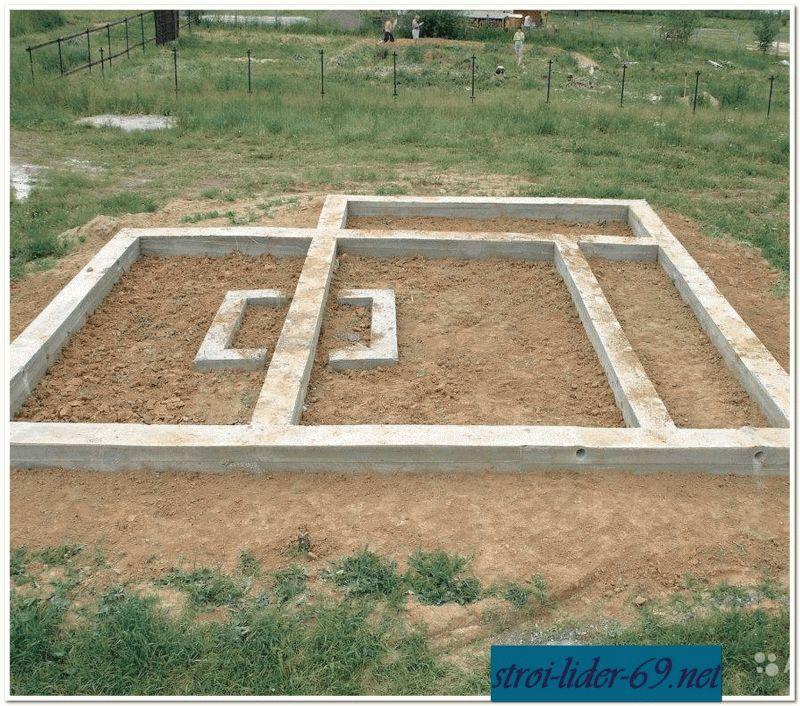 Фундамент для монолитного дома