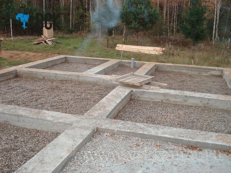 Расчет толщины плиты фундамента