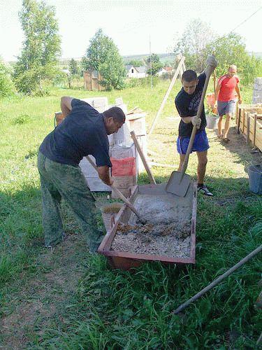 Пропорции бетона лопатами компоненты для приготовления цементного раствора