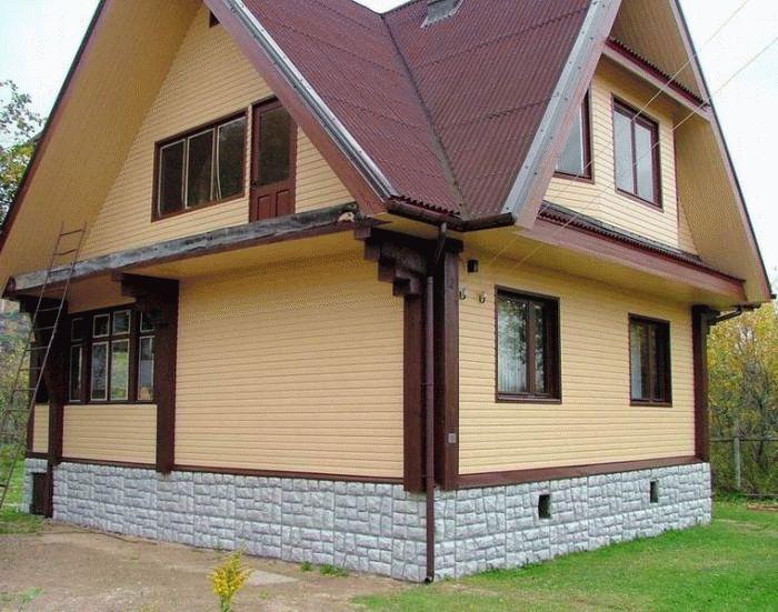 Чем отделать цоколь деревянного дома