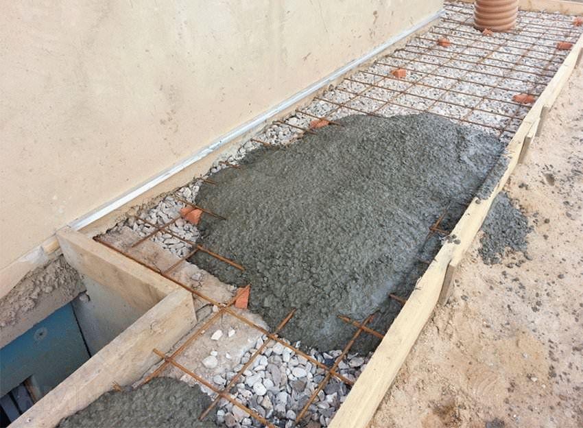 цементирование отмостки