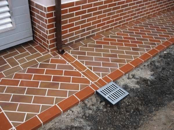 Устройство отмостки из тротуарной плитки технология